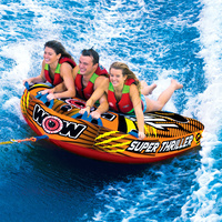 Wow Watersports Super Thriller 3 Person Inflatable Towable Water Ski Tube 11-1080