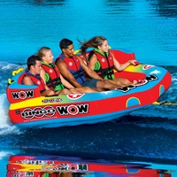 Wow Watersports Bingo 4 Person Inflatable Towable Water Ski Tube 14-1080