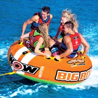 Wow Watersports Big Boy Racing 4 Person Inflatable Towable Water Ski Tube 15-1130