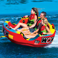 Wow Watersports Go Bot 3 Person Inflatable Towable Water Ski Tube 18-1050