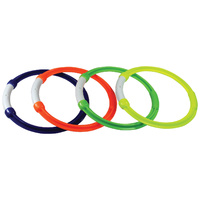 LAND AND SEA PALM BEACH - SET OF 4 POOL DIVE RINGS  - BEACH SAND FUN