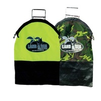 LAND & SEA CATCH BAG AUTO SPRING CLOSE - YELLOW / CAMO - FISHING CATCH BAG SEA WATER