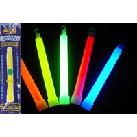 LAND & SEA GLO LIGHTSTICK - PACK OF 6 - ASSORTED COLOURS - GLOWSTICK SEA BEACH