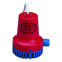 BILGE PUMP - BLUE/RED - 600GPH OR 1400GPH - BOATING WATER BOATS PUMPING