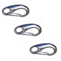 3 PACK BRIDCO CAST SNAP HOOK STAINLESS STEEL - 50MM, 70MM OR 100MM (A-2470)
