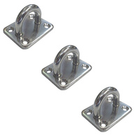 3 PACK BRIDCO PAD EYE - STAINLESS STEEL - 6MM OR 8MM (A-2621)