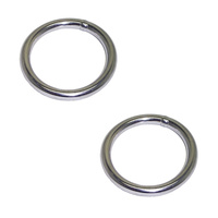 2 PACK BRIDCO RING - STAINLESS STEEL - MULTIPLE SIZES (A-2717) WELDED MARINE