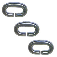 3 PACK BRIDCO CHAIN LINK STYLE SISTER - STAINLESS STEEL (10MM - 13MM) (A-2740)