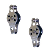 2 PK BRIDCO BLOCK LIGHTWEIGHT, NYLON SHEAVE, STAINLESS - 25MM PULLEY (A-2777)