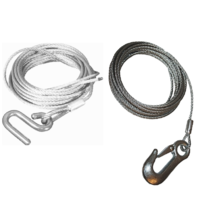 JARRETT WINCH CABLES - MULTIPLE SIZES - SNAP HOOK & S HOOKS - BOATING FISHING