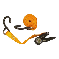 ANSCO 2PK RATCHET STRAPDOWN 25MM X 4.5M - CAMPING TIE DOWN STRAP (SD-701-2)