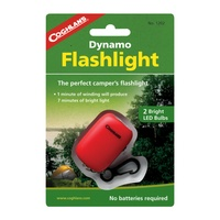 COGHLANS DYNAMO FLASHLIGHT - NO BATTERIES NEEDED (COG 1202)