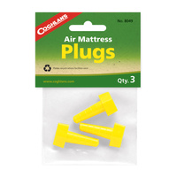 COGHLANS AIR MATTRESS PLUGS - PACK OF 3 - FITS MOST AIR MATTRESSES (COG 8049)