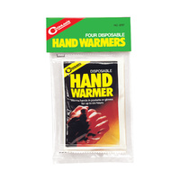 COGHLANS DISPOSABLE HAND WARMERS - PACK OF 4 - UP TO 6 HOURS WARMTH (COG 8797)