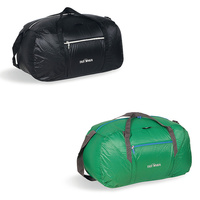 TATONKA SQUEEZY DUFFLE M 48L - BLACK OR LAWN GREEN - TRAVEL BAG - REVERSIBLE BAG