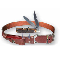 MUSTANG STOCKMANS LEATHER BELT WITH KNIFE - SIZES 32 - 52 INCHES (10352SB)