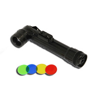 FURY GI FLASHLIGHT - BLACK - INCLUDES 4 EXTRA COLOURED LENSES (22614)