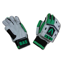 BAS BLASTER CRICKET GLOVES - GREEN / BLACK - MENS / BOYS / YOUTH - LH / RH