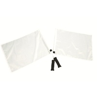 FAULKNER GOAL UMPIRE FLAGS WITH HANDLE AND FOAM GRIP - PAIR (FBAGUF)