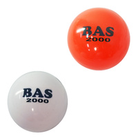 BAS 2000 POLY BP HOCKEY BALL - SEAMLESS PVC CONSTRUCTION - WHITE OR ORANGE