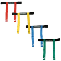 ALLIANCE TOUCH RUGBY FLAG BELT SET - RED / YELLOW / BLUE / GREEN