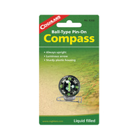COGHLANS BALL-TYPE PIN-ON COMPASS - LIQUID FILLED BALL-TYPE COMPASS (COG 8268)