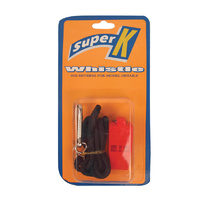 SUPER K PEALESS WHISTLE WITH LANYARD - SIGNALLING WHISTLE (SAWPPL)