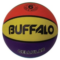 BUFFALO SPORTS RAINBOW CELLULAR RUBBER BASKETBALL - SIZE 7 (BASK089)