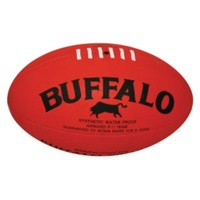 BUFFALO SPORTS CELLULAR RUBBER FOOTBALL - SIZES 2 / 3 / 4 / 5 - RED / YELLOW