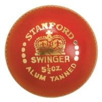 STANFORD SWINGER CRICKET BALL - AVAILABLE IN RED OR WHITE (CRICK164)
