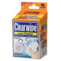 CLEARWIPE LENS CLEANERS - 20 PACK - QUICK DRYING PRE-MOISTENED WIPE (FIRST104)