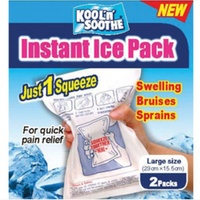 KOOL 'N' SOOTHE INSTANT ICE PACK - FOR QUICK PAIN RELIEF - 2 PACK (FIRST107)