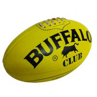 BUFFALO SPORTS CLUB LEATHER AFL FOOTBALL - MULTIPLE SIZES - RED/YELLOW