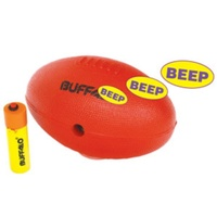 BUFFALO SPORTS BLIND AFL FOOTBALL WITH BEEPER - RED - MIDI SIZE (FOOT161)