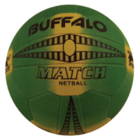 BUFFALO SPORTS MATCH NETBALL - SIZES 4 / 5 - TRIPLE GRIP RUBBER MATERIAL