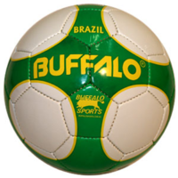 BUFFALO SPORTS BRAZIL SOCCER BALL - SIZES 3 / 4 / 5 - HAND STITCHED