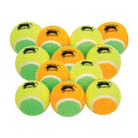 BUFFALO SPORTS LOW COMPRESSION JUNIOR COACH TENNIS BALLS - 1 DOZEN (TENN058x12)