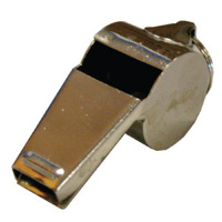 BUFFALO SPORTS LARGE METAL WHISTLE WITH RING 58.5 - HIGH QUALITY METAL (WHI006)