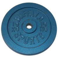 BUFFALO SPORTS BLUE HAMMERTONE METAL DISC WEIGHTS - MULTIPLE SIZES - 28MM HOLE