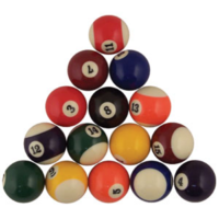 BUFFALO SPORTS KELLY POOL BALL SET - POOL BILLIARDS SNOOKER (FUN089)