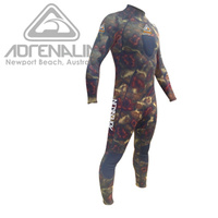 ADRENALIN CAMO STEALTH GREEN STEAMER 3MM MENS WETSUIT - FLAT LOCK STITCHING