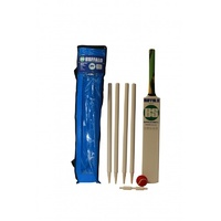 BUFFALO SPORTS WOODEN CRICKET SET W/ POLY ARMOUR BAT - MULTIPLE SIZES (CRICK411)