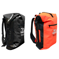 LAND & SEA DRY BAG BACKPACK - 30L CAPACITY - RED OR BLACK - ADVENTURE FISHING