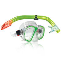 NEW LAND & SEA DAINTREE MASK & SNORKEL SET - CRYSTAL CLEAR SILICONE