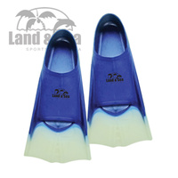 NEW LAND & SEA SILICONE TRAINING FINS - SUPER SOFT SHORT BLADE