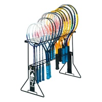 HART TENNIS / BADMINTON PORTABLE RACQUET RACK - LIGHTWEIGHT METAL FRAME (3-156)