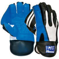HART DIAMOND CRICKET WICKET KEEPING GLOVES - CALF LEATHER CONSTRUCTION