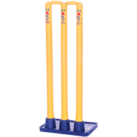 HART FLEXI BASE CRICKET STUMP SET - HEAVY DUTY RUBBER BASE (7-690)