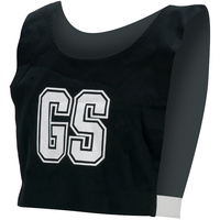 HART COTTON NETBALL BIBS - PRINTED COTTON DRILL WITH ELASTIC SIDES
