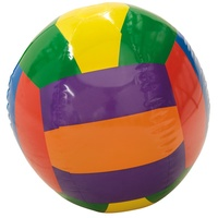 HART BEACH BALL - TRADITIONAL LIGHTWEIGHT MULTI-COLOUR INFLATABLE BALL (33-558)